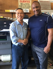 The Mayor of Inglewood, James T. Butts, Jr. stopped by today to show support for LA Smog Test Only Center!